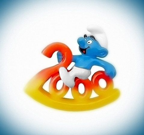 20491 easter smurf painter smurf puffi pitufo puffo smurfette
